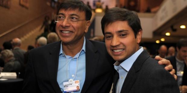 Lakshmi Mittal with His Son Aditya Mittal