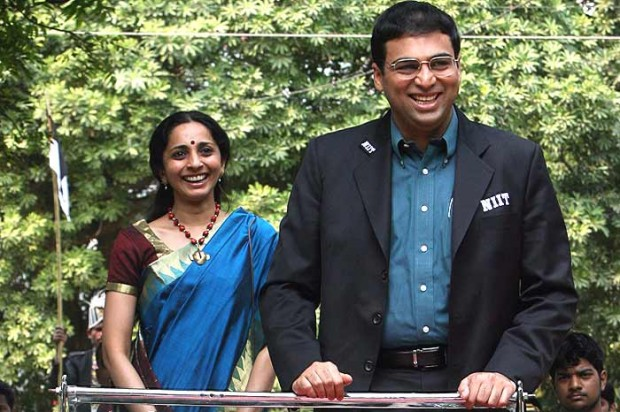 Vishy Anand With his Wife Aruna