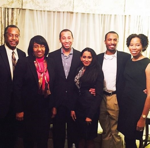 Ben Carson Couple With Their Sons and Daughter-in-Laws