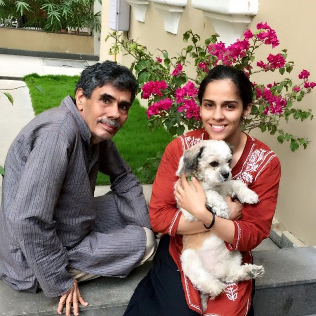 Saina With Her Father Hanvir Singh