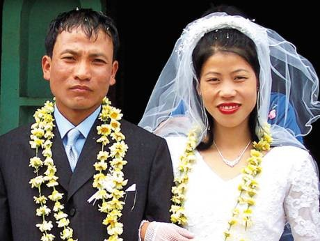 Mary Kom Wedding Photo