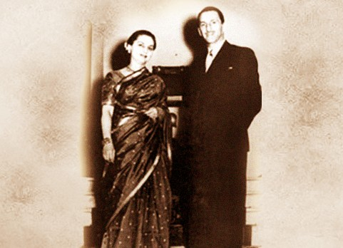 JRD and His Wife Thelma Vicaji