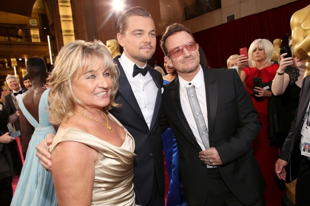 Leonardo DiCaprio With His Mother