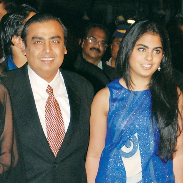 Mukesh Ambani with His Daughter Isha