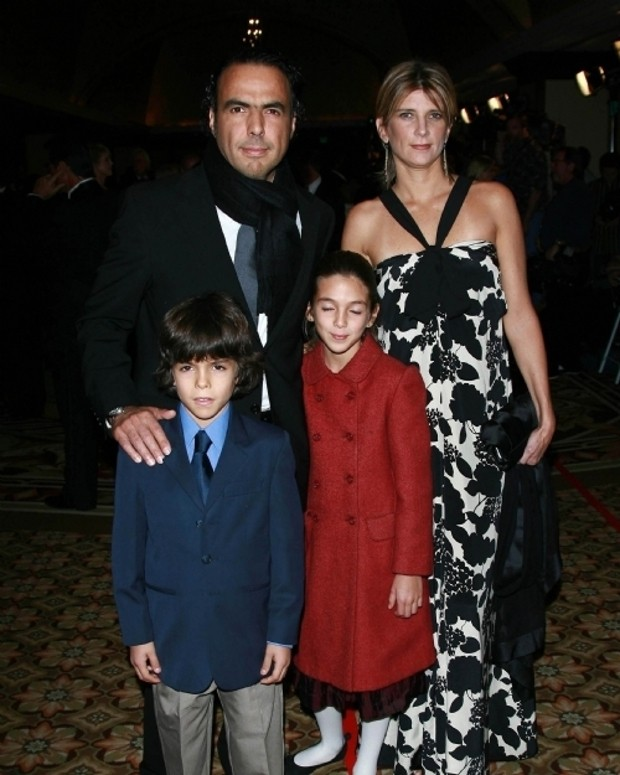 Alejandro González Iñárritu With His Children