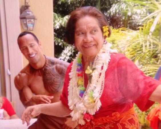 Dwayne Johnson Grand Mother Lia Maivia