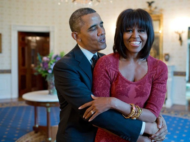 Michelle With Her Husband Barack Obama