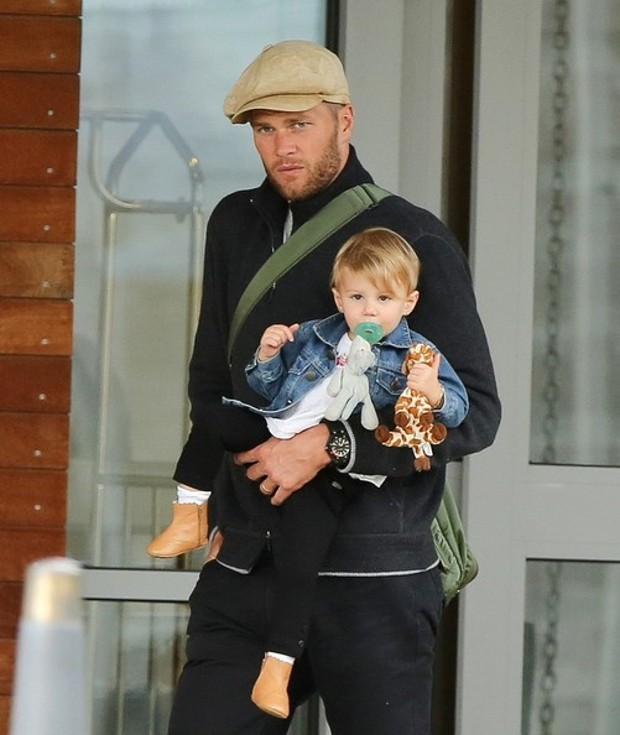Tom Brady With His Daughter Vivian Lake Brady