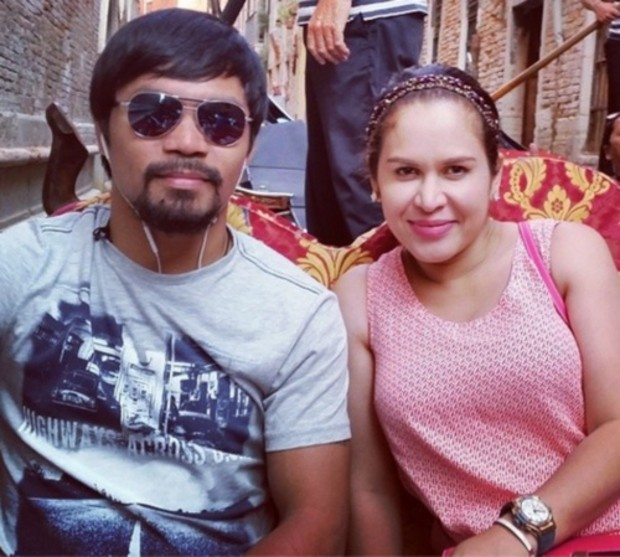 Manny Pacquiao and His Wife Jinkee Pacquiao