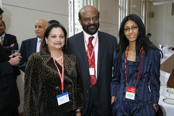 Shiv Nadar with His Daughter Roshini Nadar