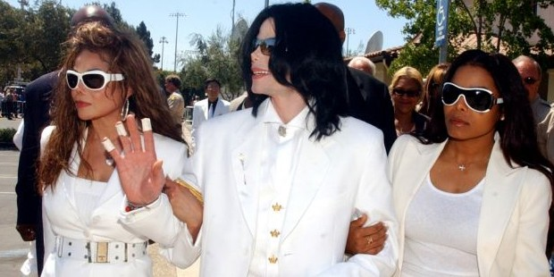 Michael Jacson with Sisters Janet and LaToya