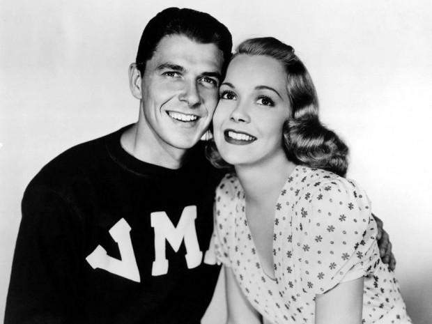 First Wife Jane Wyman with Ronald Reagan in1938
