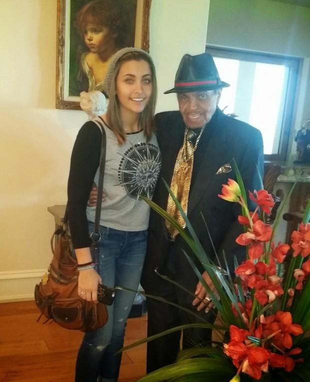 Paris Jackson with her Grandfather Joe Jackson