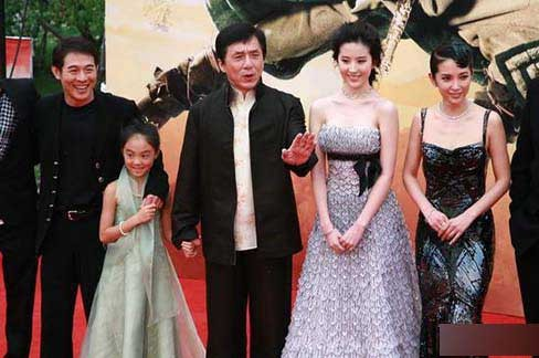 Jet Li and His Family with Jackie Chan