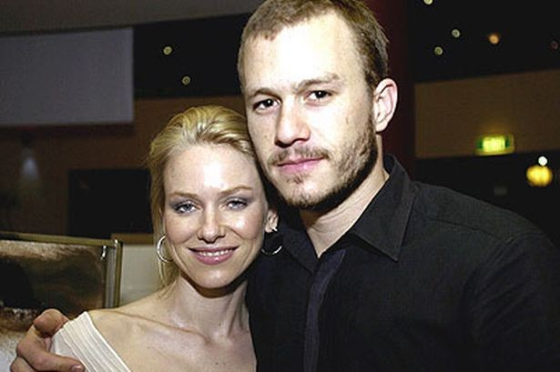 Naomi Watts with her Former Partner Heath Ledger