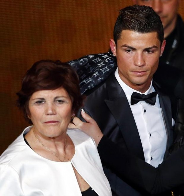 Ronaldo with His mother