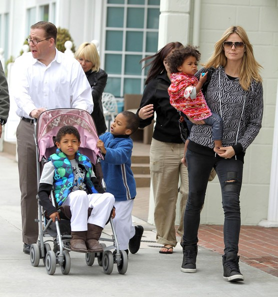 Heidi Klum And Family Out For Shopping