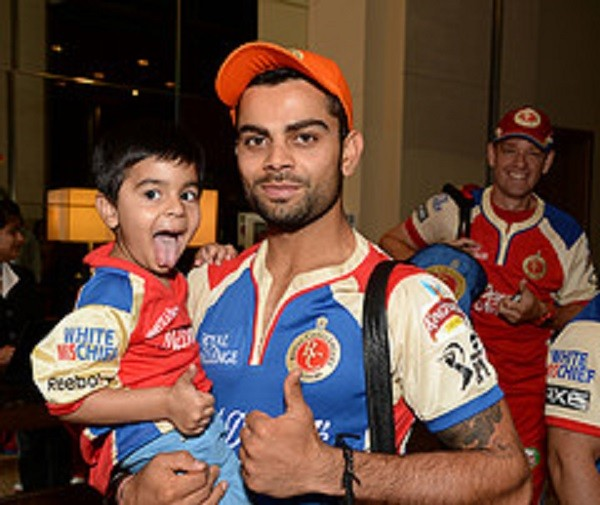 Kohli and His Nephew Aarav