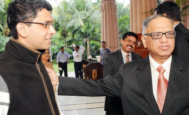 Rohan Murthy with His Father Narayana Murthy