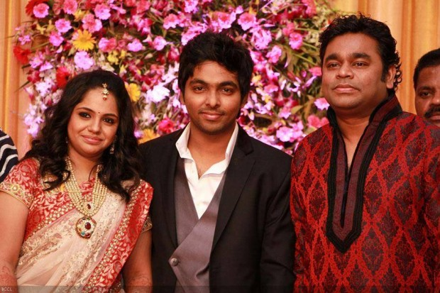 Rahman with His Nephew G.V. Prakash