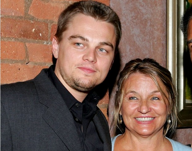 Dicaprio with His Mother Irmelin Indenbirken