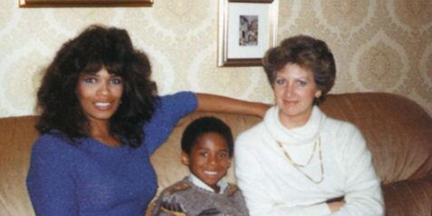 Little Kobe with His Mother Pamela
