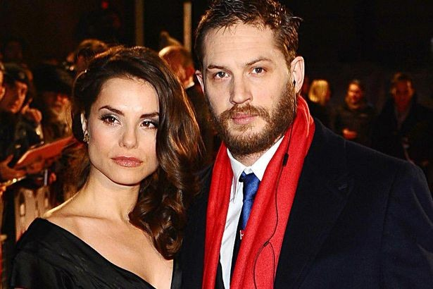 Tom Hardy and with Charlotte Riley at Legend premiere