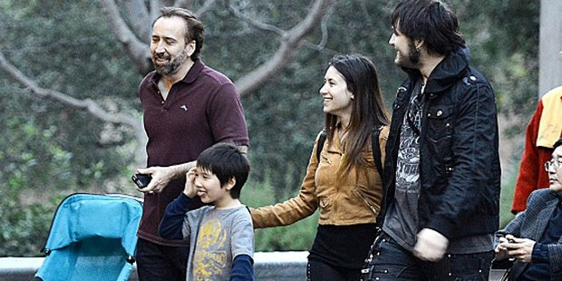 Nicolas Cage with his both sons Weston and Kal-El