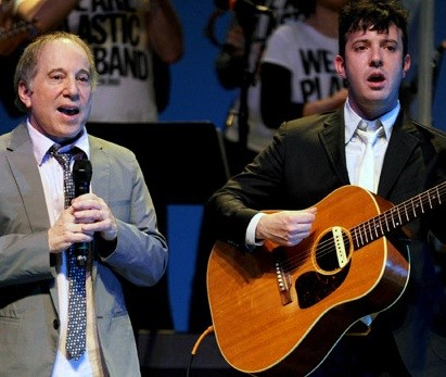 Paul Simon And His Son Harper Singing Together Concert At Bam