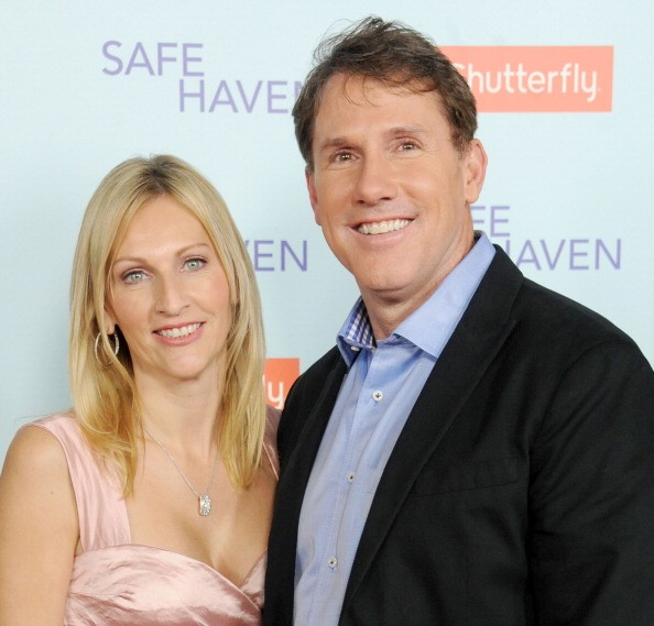 Nicholas Sparks and wife Cathy Sparks arrive at the Los Angeles