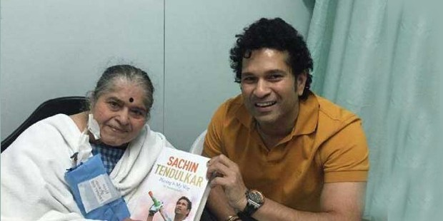 Sachin with his Mother Rajni