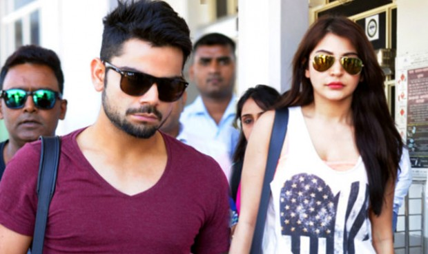 Kohli with His Girlfriend Anushka Sharma