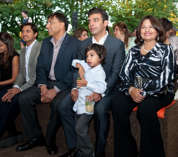 Mittal with His Wife, Son and His Son-in-Law Amit Bhatia