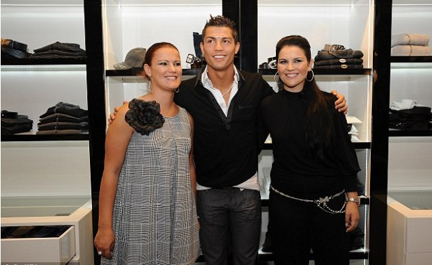 Ronaldo with His Sisters
