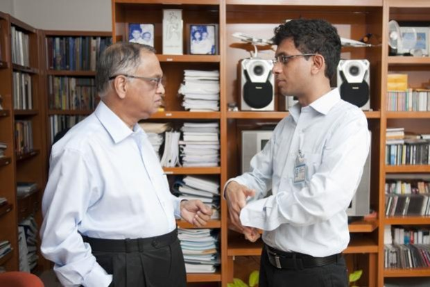 Narayana Murthy Taking with His Son Rohan
