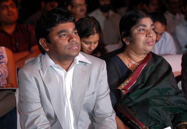 Rahman with His Mother Kareema Begum