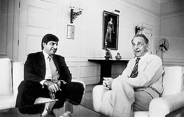 J.R.D. with Ratan Tata