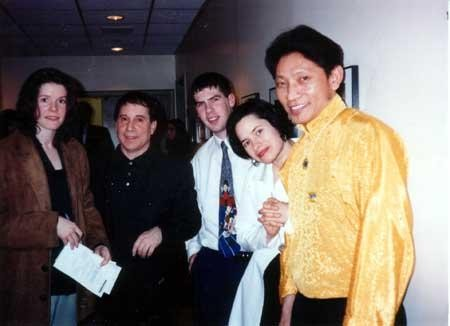 Paul,His Wife Edie Brickell And Some Musicians From Tibet
