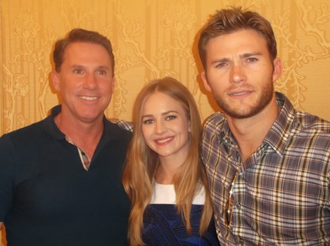 Nicholas , Britt Robertson and Scott Eastwood at the New York City