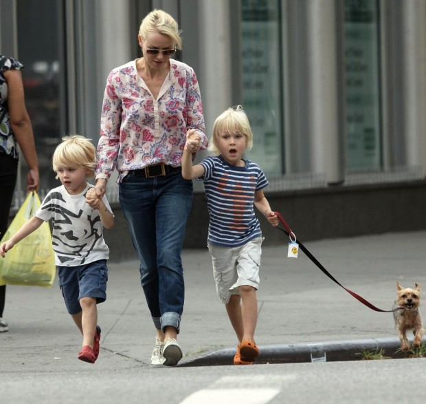 Naomi Watts with Her Two Sons