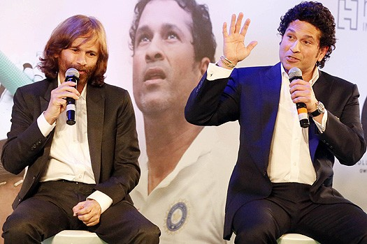 Sachin Tendulkar with his Brother Ajith Tendulkar