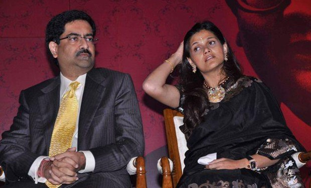 Kumar Mangalam Birla With His Wife Neerja Birla