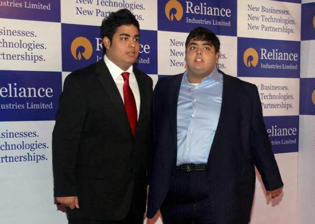 Mukesh Ambani sons Akash and Anant