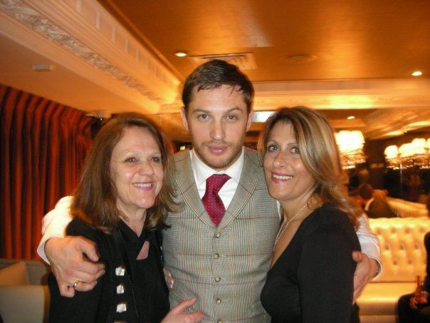 Tom Hardy with his mother Anne and THAAC creator Helen Bega