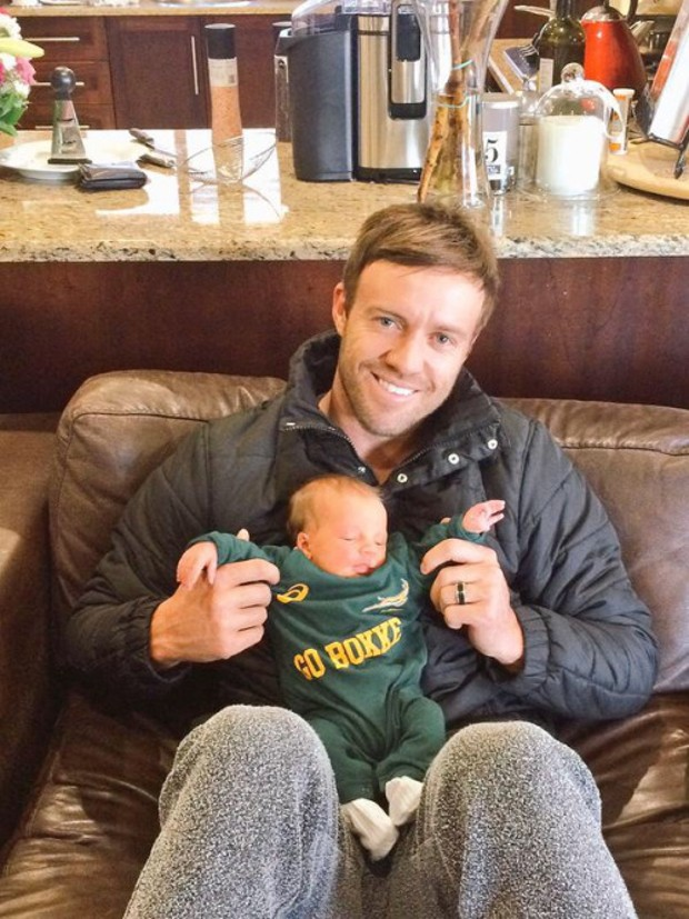 AB De Villiers With His Son