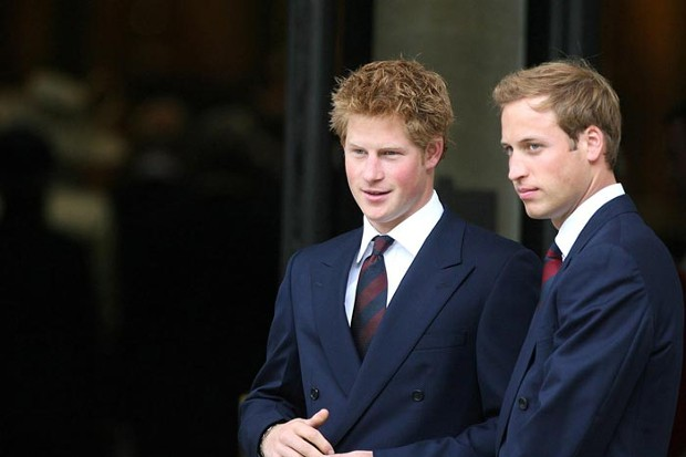 Prince Harry With His Brother