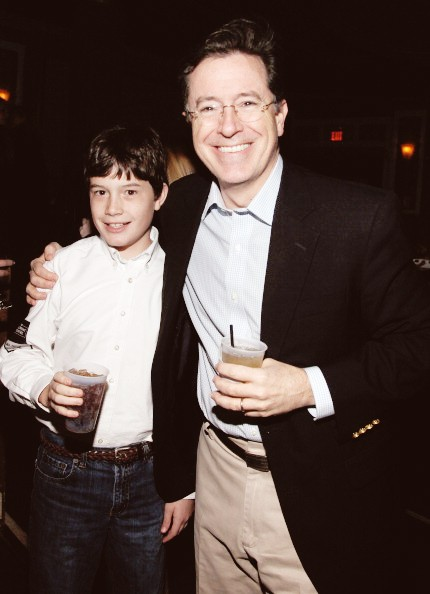 Stephen Colbert with his Son Peter  At Wellmont Theatre