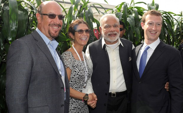 Mark and His Parents Edward and Karen with Indian Prime Minister