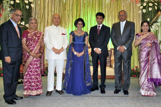 Narayana Murthy at His Son's Wedding Reception