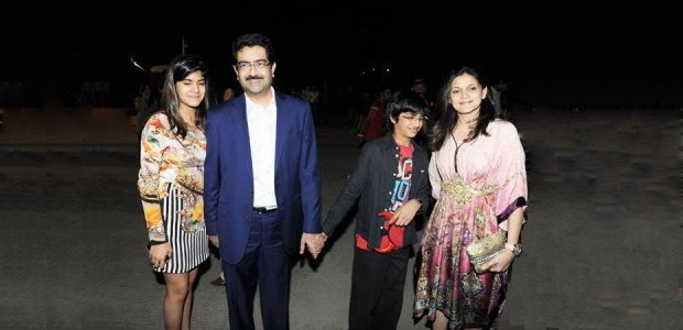 Kumar Mangalam Birla With His Family